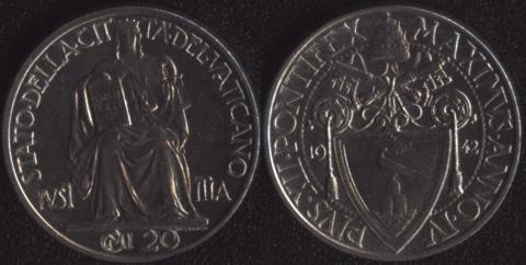 Ватикан 20 чентезими 1942