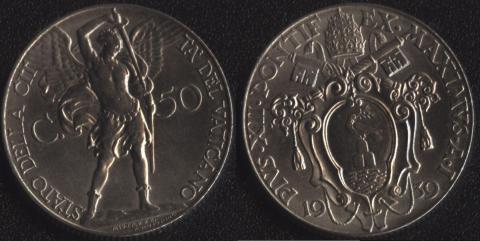 Ватикан 50 чентезими 1939