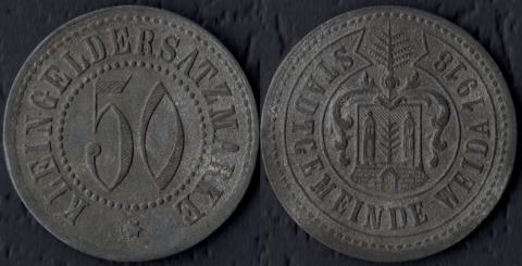 Вайда 50 пфеннигов 1918