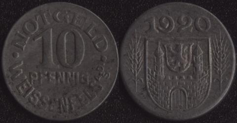Вайссенфелс 10 пфеннигов 1920
