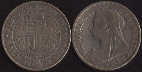 Великобритания 1/2 кроны 1898