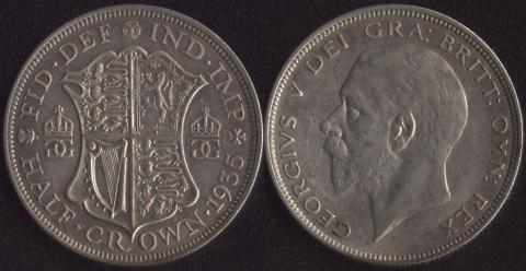 Великобритания 1/2 кроны 1935