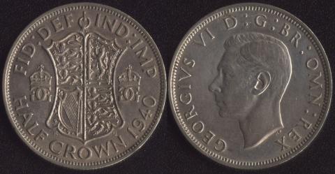 Великобритания 1/2 кроны 1940