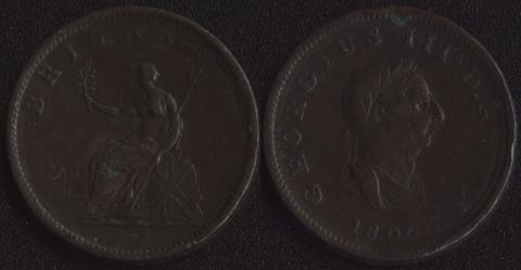 Великобритания 1/2 пенни 1806