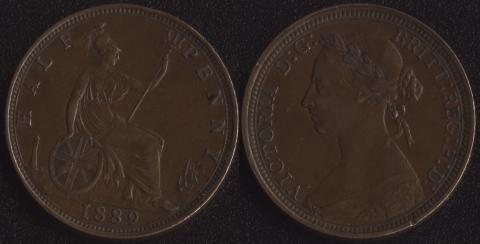 Великобритания 1/2 пенни 1889