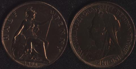 Великобритания 1/2 пенни 1896