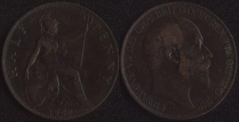 Великобритания 1/2 пенни 1902
