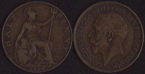 Великобритания 1/2 пенни 1914