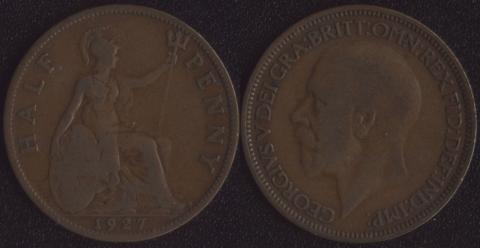 Великобритания 1/2 пенни 1927