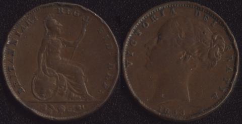 Великобритания 1 фартинг 1853