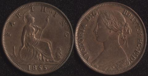 Великобритания 1 фартинг 1865
