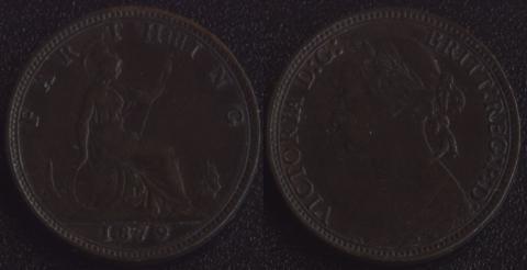 Великобритания 1 фартинг 1879