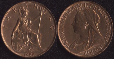 Великобритания 1 фартинг 1899