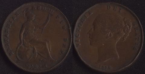Великобритания 1 пенни 1854