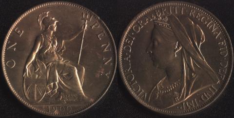 Великобритания 1 пенни 1900