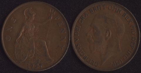 Великобритания 1 пенни 1927