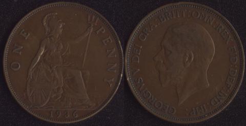 Великобритания 1 пенни 1936