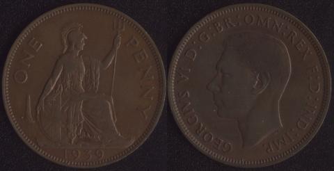 Великобритания 1 пенни 1939