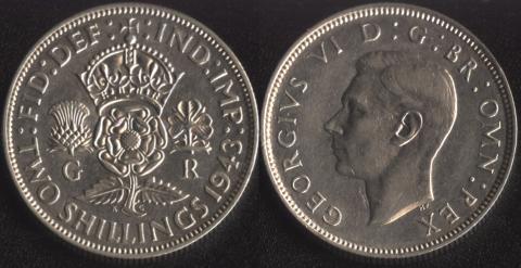 Великобритания 2 шиллинга 1943