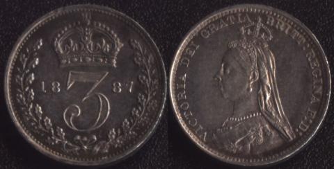 Великобритания 3 пенса 1887