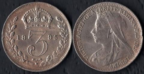 Великобритания 3 пенса 1895