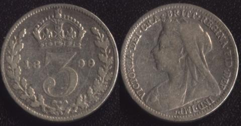 Великобритания 3 пенса 1899