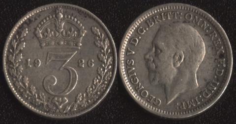 Великобритания 3 пенса 1926