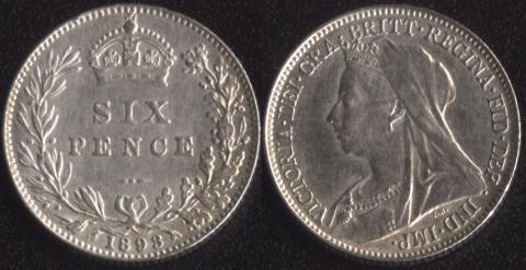 Великобритания 6 пенсов 1893