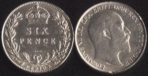 Великобритания 6 пенсов 1910