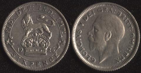 Великобритания 6 пенсов 1926