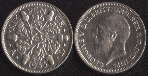Великобритания 6 пенсов 1933