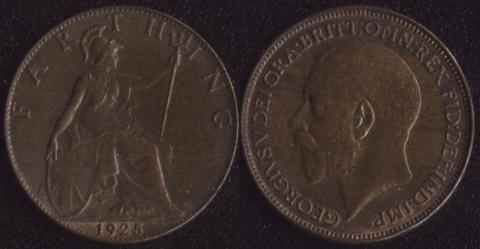 Великобритания фартинг 1925