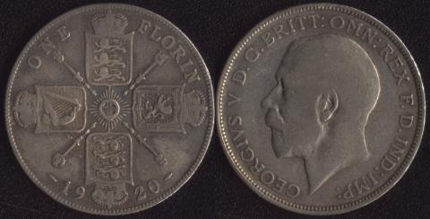Великобритания флорин 1920