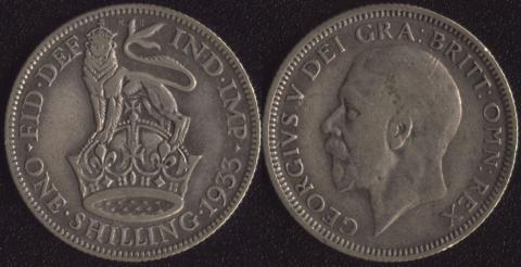 Великобритания шиллинг 1933