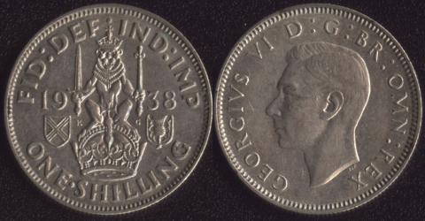 Великобритания шиллинг 1938 шотландский