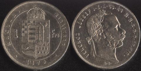 Венгрия 1 форинт 1879