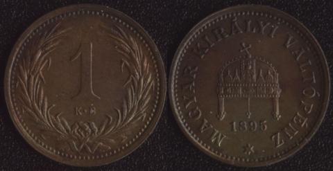 Венгрия 1 хеллер 1895