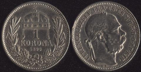 Венгрия 1 корона 1893