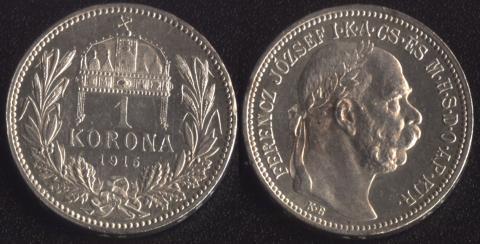 Венгрия 1 корона 1915