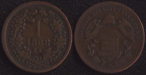 Венгрия 1 крейцер 1868