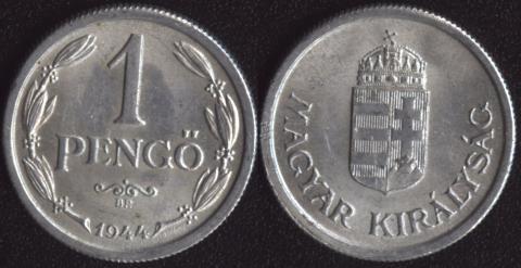 Венгрия 1 пенго 1944