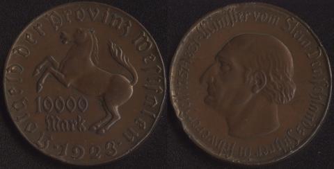 Вестфалия 10000 марок 1923