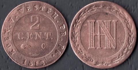Вестфалия 2 сантима 1812