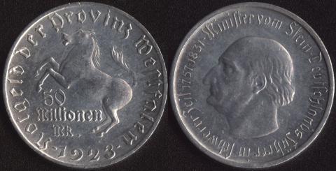 Вестфалия 50 миллионов марок 1923