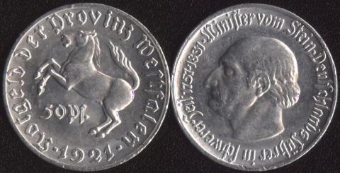 Вестфалия 50 пфеннигов 1921