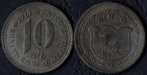 Вейлер 10 пфеннигов 1917