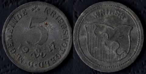 Вейлер 5 пфеннигов 1917