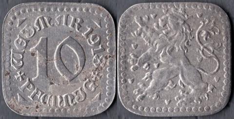 Веймар 10 пфеннигов 1918