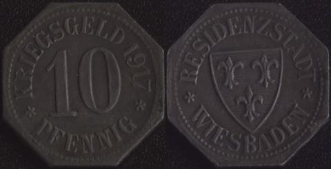 Висбаден 10 пфеннигов 1917