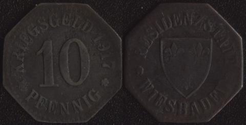 Висбаден 10 пфеннигов 1917 (1)